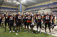 SAN ANTONIO, TX - OCTOBER 20, 2012: The San Jose State Spartans versus The University of Texas at San Antonio Roadrunners Football at the Alamodome. (Photo by Jeff Huehn)