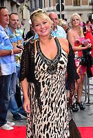 Cheryl Baker<br /> The &quot;Bula Quo!&quot; UK film premiere, Odeon West End cinema, Leicester Square, London, England.<br /> July 1st, 2013<br /> half length black crochet cardigan brown leopard print dress  <br /> CAP/BF<br /> &copy;Bob Fidgeon/Capital Pictures