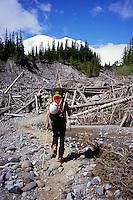 White River (1300 m) is the starting point for Mt Rainier (4392 m), Washington, USA