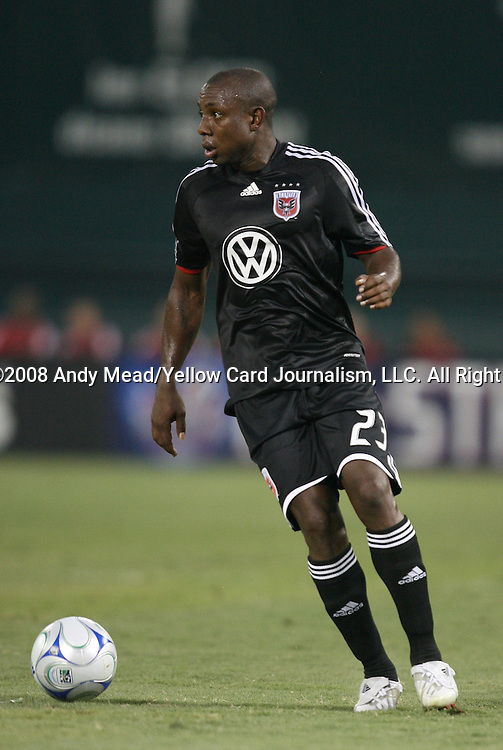 12 July 2008: DC United's Gonzalo Martinez (COL). Club Deportivo (Chivas) de Guadalajara of the Mexican Futbal League defeated DC United of Major League Soccer 2-1 in a group stage match of the 2008 Superliga tournament at RFK Stadium in Washington, DC.