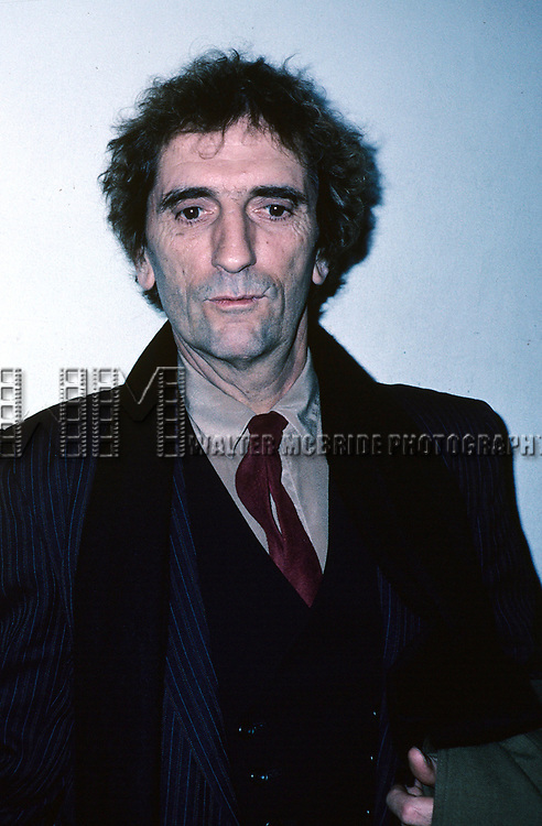 Harry Dean Stanton attend the premiere of 'One From the Heart'  on February 15, 1982 at Radio City Music Hall in New York City.
