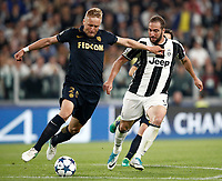 Football Soccer: UEFA Champions League semifinal second leg Juventus - Monaco, Juventus stadium, Turin, Italy,  May 9, 2017. <br /> Monaco's Kamil Glik (l) in action with Juventus' Gonzalo Higuain (r) during the Uefa Champions League football match between Juventus and Monaco at Juventus stadium, on May 9, 2017.<br /> UPDATE IMAGES PRESS/Isabella Bonotto