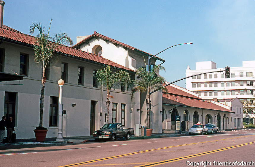 Mission RR Stations: Santa Fe Depot Baggage Building, San Diego. To be renovated as galleries. Photo '03.