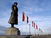 Standbeeld van Wilhelmina op de Boulevard in Noordwijk