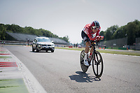 Lars Bak (DEN/Lotto-Soudal) out on the Autodromo Nazionale (Monza Race Circuit) for the closing time trial into Milano<br /> <br /> stage 21: Monza - Milano (29km)<br /> 100th Giro d'Italia 2017