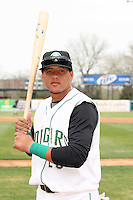 April 11 2010: Juan Nunez of the Kane County Cougars at Elfstrom Stadium in Geneva, IL. The Cougars are the Low A affiliate of the Oakland A's. Photo by: Chris Proctor/Four Seam Images
