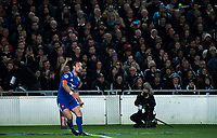 France's Morgan Parra takes a conversion attempt during the Steinlager Series international rugby match between the New Zealand All Blacks and France at Eden Park in Auckland, New Zealand on Saturday, 9 June 2018. Photo: Dave Lintott / lintottphoto.co.nz