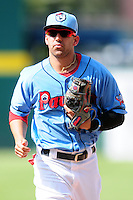 Pawtucket Red Sox shortstop Deven Marrero (12) during a game versus the Columbus Clippers at McCoy Stadium in Pawtucket, Rhode Island on May 17,2015.  (Ken Babbitt/Four Seam Images)
