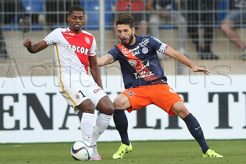 24.09.2015. Montpelier, France. French League 1 football. Montpellier versus AS Monaco.  Mathieu DEPLAGNE (MHSC)