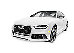 2016 Audi RS 7 Prestige Quattro Sedan luxury car isolated on white background with clipping path Image © MaximImages, License at https://www.maximimages.com