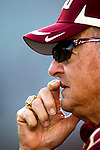 Florida State head coach Bobby Bowden watches his team prior to their Garnet and Gold game on Bobby Bowden Field on the Florida State University campus in Tallahassee, Florida April 4, 2009..(Mark Wallheiser/TallahasseeStock.com)