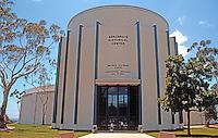 San Diego: Balboa Park's Ford Building, Elevation. Walter Teague, 1935.  NHRP 1973. Now Aerospace Historical Center. Photo '80.