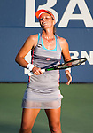 Varvara Lepchenko (USA) during her Round of 16 match against Caroline Wozniacki (DEN) at the Bank of the West Classic in Stanford, CA on August 6, 2015.