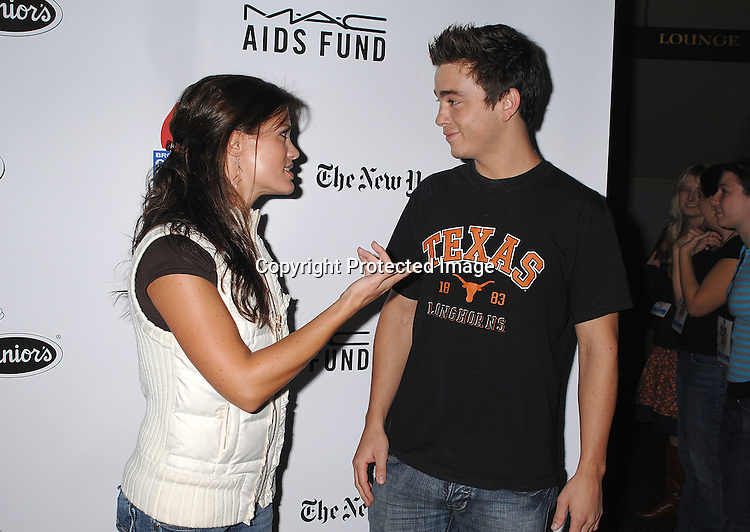 Melissa Claire Egan and Brandon Buddy..posing for photos at The 21st Annual Broadway Flea Market and Grand Auction benefitting Broadway Cares/..Equity Fights Aids on September 23, 2007 in Shubert Alley. ....Photo by Robin Platzer, Twin Images....212-935-0770