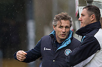 Wycombe Wanderers Manager Gareth Ainsworth talks to Barry Richardson of Wycombe Wanderers during the Sky Bet League 2 match between Wycombe Wanderers and Luton Town at Adams Park, High Wycombe, England on 6 February 2016. Photo by Andy Rowland.