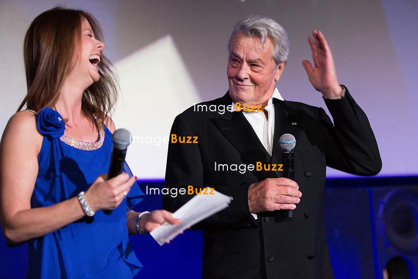 Alain Delon, invit&eacute; d'Honneur,  annonce sa retraite  pour la fin 2017, lors du Festival du film policier de Li&egrave;ge 2017.<br /> Alain Delon a annonc&eacute; vendredi 5 mai en pr&eacute;lude &agrave; la remise d'un Big up d'honneur au Festival International du Film Policier de Li&egrave;ge qu'il allait tourner &agrave; l'automne 2017 un film avec Juliette Binoche, dirig&eacute; par Patrice Leconte. <br /> &quot;Ce sera mon tout dernier film car, comme un boxeur qui ne veut pas faire le combat de trop, je souhaite ne pas faire le film de trop&quot;.<br /> Belgique, Li&egrave;ge, 5 mai 2017.<br /> French actor Alain Delon announces the end of his movie career by the end of 2017, while attending the International Liege Police Film Festival in Belgium.<br /> Alain Delon will be filming his very last movie of his career next fall.<br /> Belgium, Li&egrave;ge, 5 May  2017