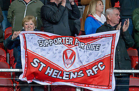 Picture by Allan McKenzie/SWpix.com - 06/04/2018 - Rugby League - Betfred Super League - St Helens v Hull FC - The Totally Wicked Stadium, Langtree Park, St Helens, England - St Helens, fans, supporters.