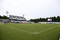 Cary, North Carolina  - Wednesday May 24, 2017: View from the northwest corner of Sahlen's Stadium prior to a regular season National Women's Soccer League (NWSL) match between the North Carolina Courage and the Sky Blue FC at Sahlen's Stadium at WakeMed Soccer Park. The Courage won the game 2-0.