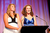 Junior Team winners Rosehill College Girls U15 Double Sculls Rowing team Kelsi Walters & Tegan Thomas. Counties Manukau Sport  Sporting Excellence Awards held at TelstraClear Pacific Events Centre, Manukau City, on December 10th, 2009.