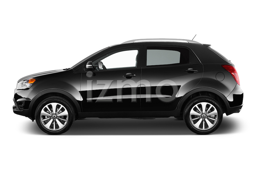 Car Driver side profile view of a2014 Ssangyong Korando Sapphire 5 Door SUV Side View