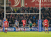 16th March 2018, The AJ Bell Stadium, Salford, England; Betfred Super League rugby, Salford Red Devils versus Hull FC; Robert Lui scores a late first half penalty to give Salford a half time 10-8 lead