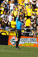 28 AUGUST 2010:  Referee Andrew Chapin during MLS soccer game between FC Dallas vs Columbus Crew at Crew Stadium in Columbus, Ohio on August 28, 2010.
