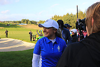 Bronte Law (EUR) celebrates Team Europe winning the Solheim Cup 2019, Gleneagles Golf CLub, Auchterarder, Perthshire, Scotland. 15/09/2019.<br /> Picture Thos Caffrey / Golffile.ie<br /> <br /> All photo usage must carry mandatory copyright credit (© Golffile | Thos Caffrey)