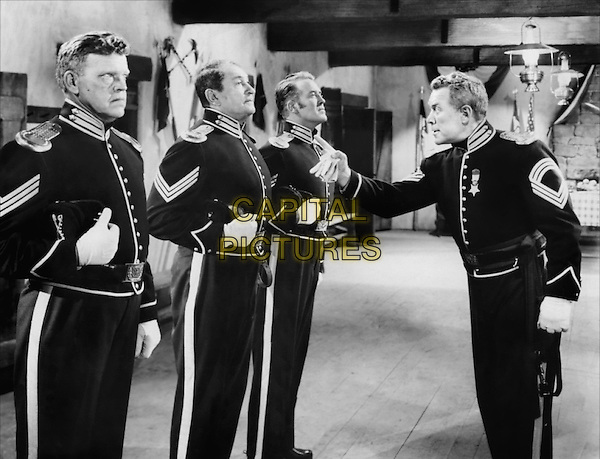 CAST - (L to R) Jack Pennick, Victor McLaglen, Dick Foran & Ward Bond.in Fort Apache.*Filmstill - Editorial Use Only*.CAP/PLF.Supplied by Capital Pictures.