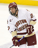 Andrew Orpik (BC - 27) - The Boston College Eagles defeated the visiting Northeastern University Huskies 7-1 on Friday, March 9, 2007, to win their Hockey East quarterfinals matchup in two games at Conte Forum in Chestnut Hill, Massachusetts.