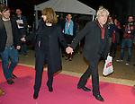 "Arno and Nathalie Baye arriving for the presentation of the film ""Prejudice""  for the Opening Ceremony of the Festival International of Film Francophone in Namur in Belgium.  2 october 2015, Namur, Belgium"