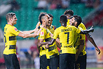 Borussia Dortmund Forward Pierre-Emerick Aubameyang (C) celebrating his goal with his teammates during the International Champions Cup 2017 match between AC Milan vs Borussia Dortmund at University Town Sports Centre Stadium on July 18, 2017 in Guangzhou, China. Photo by Marcio Rodrigo Machado / Power Sport Images