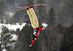 16 January 2009:  Amber Peterson of Canada performs aerial acrobatics during the FIS Freestyle World Cup warm-ups at the Olympic Ski Jumping Facility in Lake Placid, NY, USA. Mandatory Photo Credit: Ed Wolfstein Photo. Contact: Ed Wolfstein, Burlington, Vermont, USA. Telephone 802-864-8334. e-mail: ed@wolfstein.net