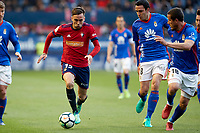 Rober Iba&ntilde;ez (medium; CA Osasuna) during the Spanish <br /> la League soccer match between CA Osasuna and Real Oviedo at Sadar stadium, in Pamplona, Spain, on Saturday, <br /> May 12, 2018.