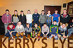 Pictured in the Devon Inn on Friday night for the Templeglantine juniors awards night were the players of the U16 team who were the championship winners 2014. All medals were presented by Limerick Hurler James Ryan.