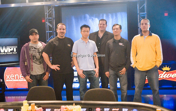 Final table competitors.