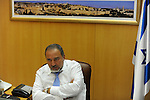 Avigdor Lieberman, Israel's Foreign Minister, at his office in Jerusalem.<br />