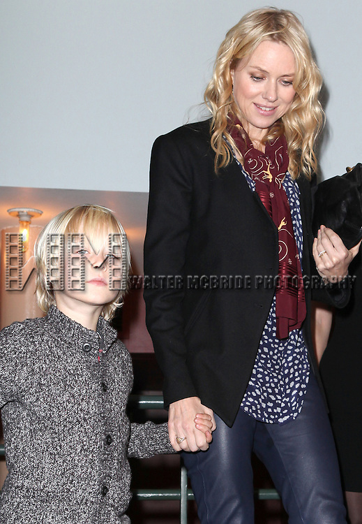 Naomi Watts with Alexandre Pete attending the New 42nd Street Gala at The New Victory Theater in New York City on December 5, 2012