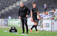Lincoln City manager Michael Appleton, left, and Lincoln City's Sean Roughan <br /> <br /> Photographer Chris Vaughan/CameraSport<br /> <br /> The EFL Sky Bet League One - Milton Keynes Dons v Lincoln City - Saturday 19th September 2020 - Stadium MK - Milton Keynes<br /> <br /> World Copyright © 2020 CameraSport. All rights reserved. 43 Linden Ave. Countesthorpe. Leicester. England. LE8 5PG - Tel: +44 (0) 116 277 4147 - admin@camerasport.com - www.camerasport.com