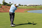 Damien McGrane tees off the 18th tee during Day 2 of the Dubai World Championship, Earth Course, Jumeirah Golf Estates, Dubai, 26th November 2010..(Picture Eoin Clarke/www.golffile.ie)