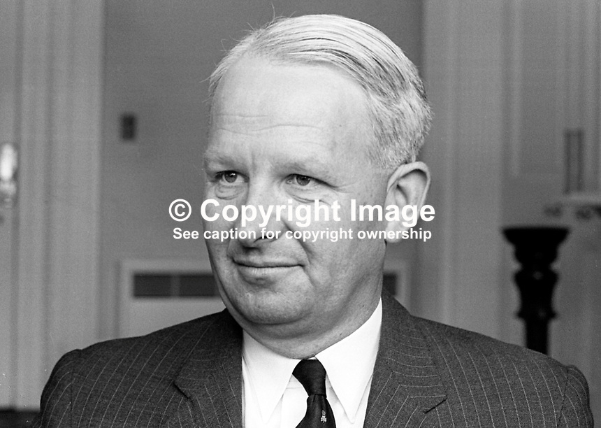 Brian Faulkner, Minister for Commerce, Stormont Parliament, N Ireland, UK, June 1967. 196706000123a<br />