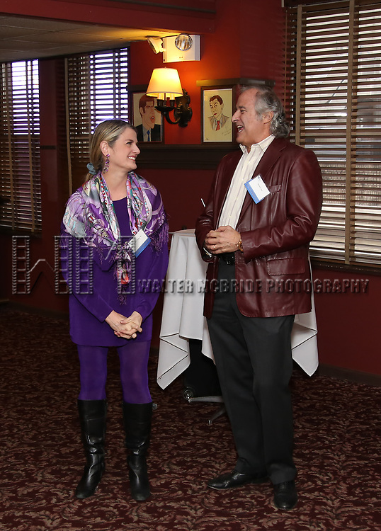 Bonnie Comley and Stewart F. Lane attend the UMass Lowel Cockail Party for 'Sunset Boulevard' hosted by Chancellor Jacquie Moloney, Bonnie Comley and Stewart F. Lane at Sardi's on April 5, 2017 in New York City