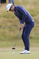 Dylan Frittelli (RSA) putts on 14th green during Thursday's Round 1 of the 2018 Dubai Duty Free Irish Open, held at Ballyliffin Golf Club, Ireland. 5th July 2018.<br /> Picture: Eoin Clarke | Golffile<br /> <br /> <br /> All photos usage must carry mandatory copyright credit (&copy; Golffile | Eoin Clarke)