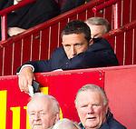 St Johnstone manager Derek McInnes in the stand