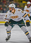 24 November 2012: University of Vermont Catamount defenseman Blake Doerring, a Sophomore from Chanhassen, MN, in action against the University of Minnesota Golden Gophers at Gutterson Fieldhouse in Burlington, Vermont. The Catamounts fell to the Gophers 3-1 in the second game of their 2-game non-divisional weekend series. Mandatory Credit: Ed Wolfstein Photo