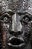 Tin mask in San Miguel de Allende, Mexico