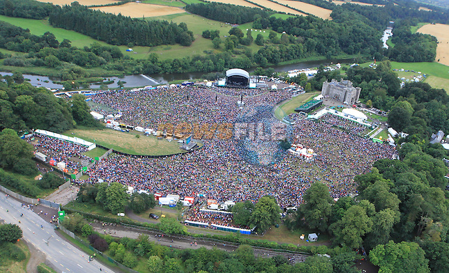 An ariel view at Slane Concert with Eminem 2013 on Saturday 17th August 2013 <br /> Picture:  Fran Caffrey/ www.newsfile.ie