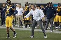 BERKELEY, CA - September 17, 2016: Cal head coach Sonny Dykes yells about a call. Cal played Texas at Cal Memorial Stadium.