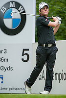23.05.2015. Wentworth, England. BMW PGA Golf Championship. Round 3. Emiliano Grillo [ARG] on the 5th tee during the third round of the 2015 BMW PGA Championship from The West Course Wentworth Golf Club