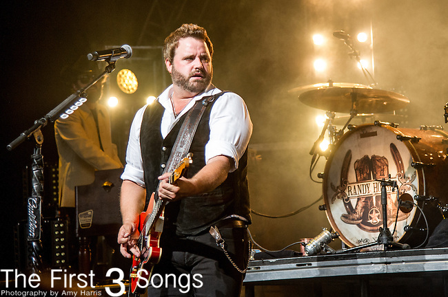 Randy Houser performs at Riverbend Music Center in Cincinnati, Ohio.