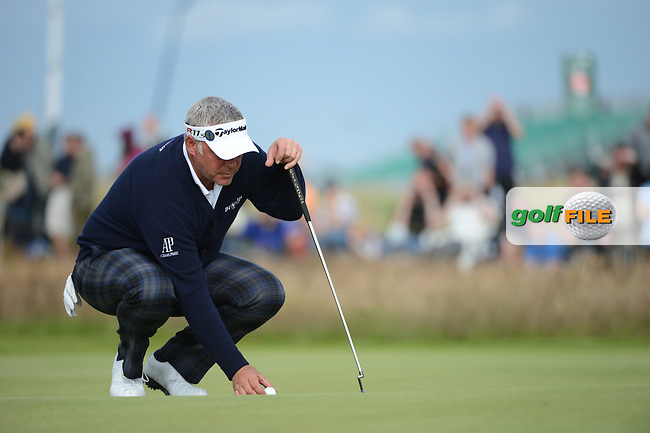 Darren Clarke (NIR) on the 15th during round 2 of THE 141st OPEN CHAMPIONSHIP, Royal Lytham & St Annes GC,Lytham St Annes,Lancashire,England. 20/07/2012.Picture Fran Caffrey www.golffile.ie